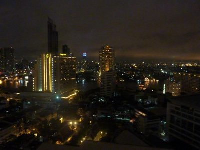 Bangkok By Night Depuis Le Balcon