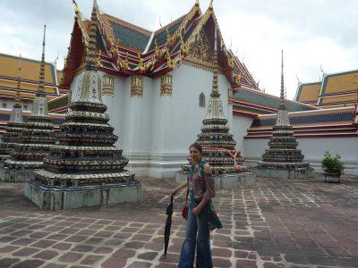 Dans la cour du Wat Pho