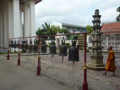 Dans La Cour Du Wat Kanlayanamit