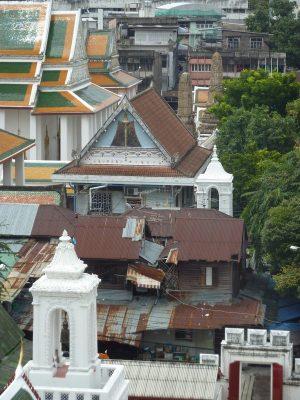 Les toits de Bangkok