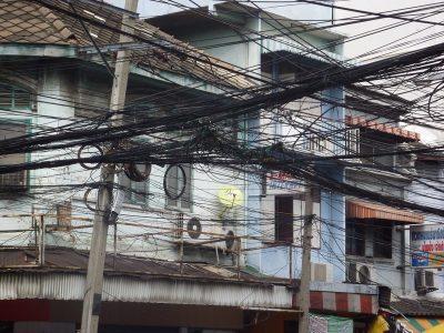 Dans les rues du quartier de Silom
