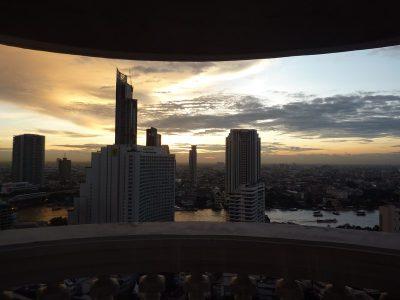 Coucher de soleil depuis le balcon de notre hôtel