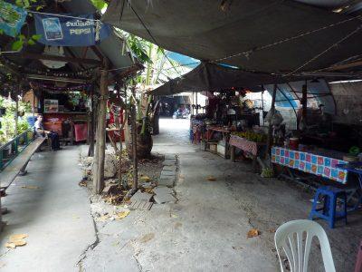 Un Petit Marché Au Bord Du Khlong
