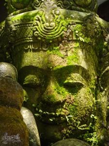 Budda nous accueil à l'entrée de la Monkey Forest, Ubud