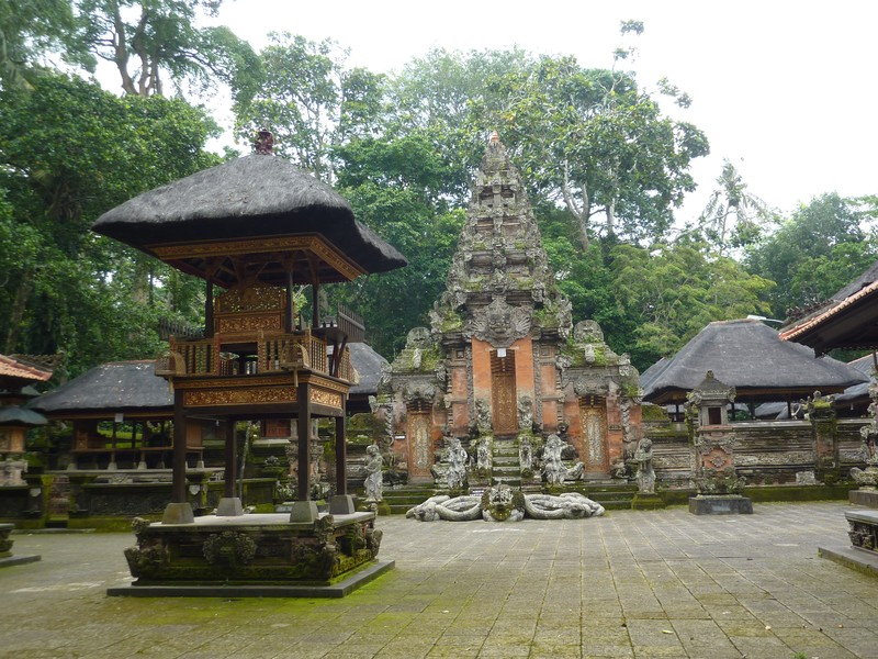 An old temple in the Monkey Forest