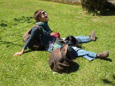 Mariette et la grenouille à grande bouche ;-)