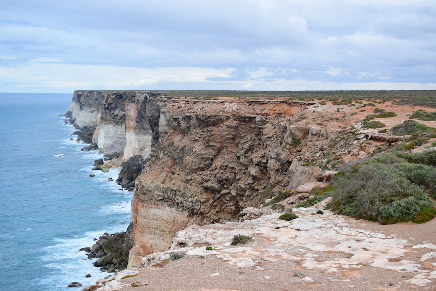 The famous cliff of the Nullarbor