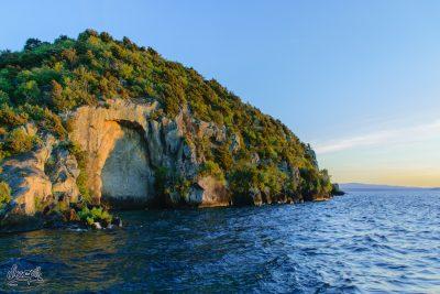 Les Fameuses Sculptures Maories Sur Le Lac Taupo