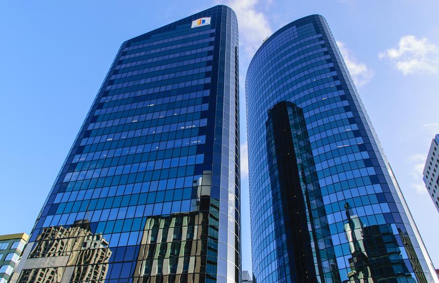 Le CBD, en plein coeur de la City d'Auckland