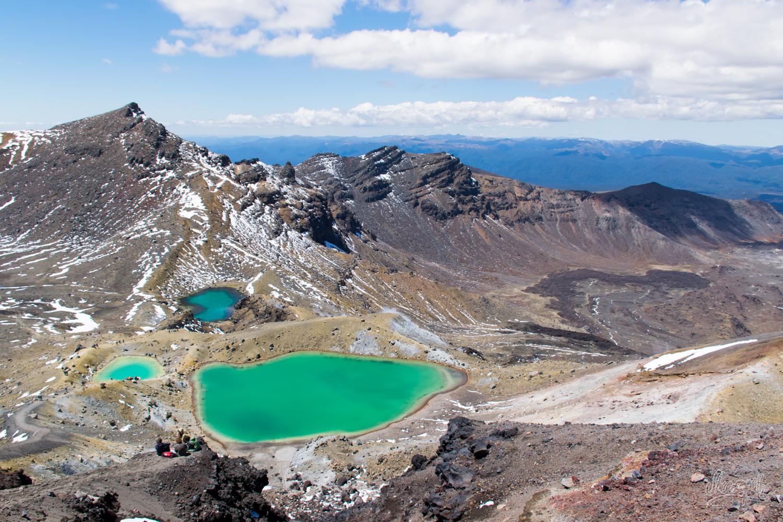 Les superbes Emerald Lakes aux couleurs irréelles