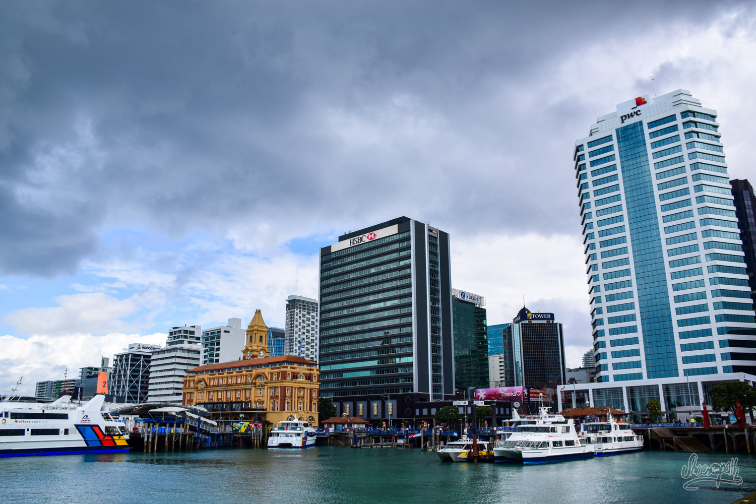 Auckland CBD view from the docks
