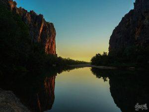 Gibb River Rd - Coucher de soleil sur Windjana Gorges (Cote ouest, 4x4 uniquement)