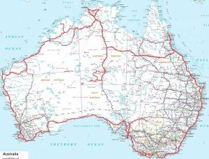 Le trajet de notre road trip en Australie