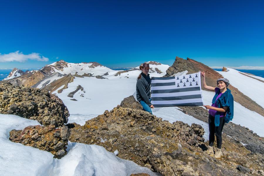 Un nouveau sommet de conquis : le Mt Ruapehu à vu la Bretagne !