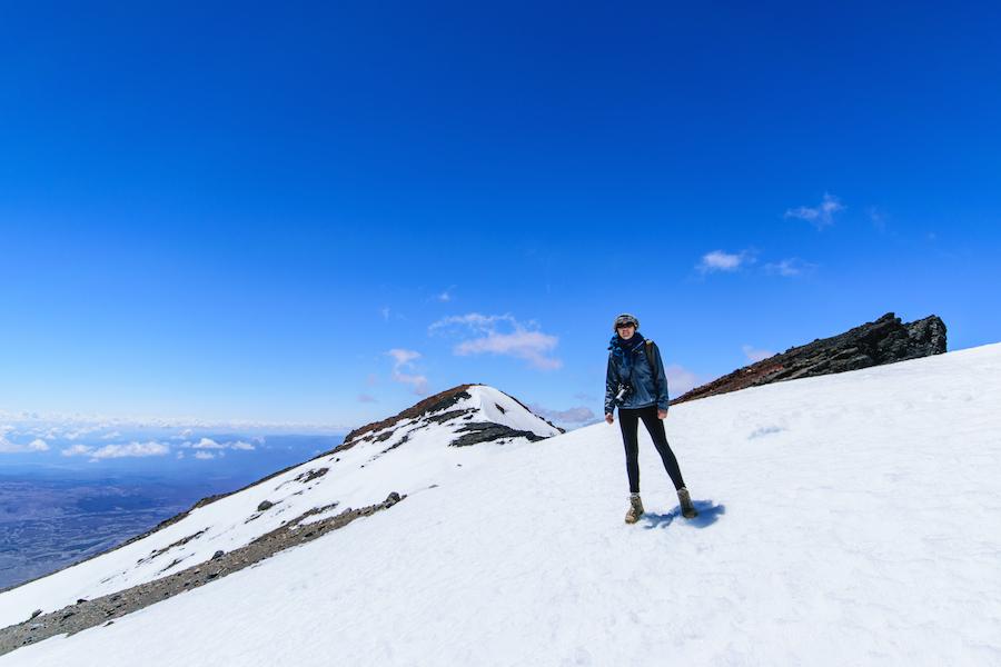 En haut du glacier Knob