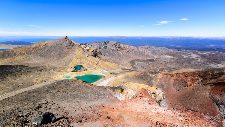Les fabuleux Emerald Lakes, au milieu du Tongariro Alpine Crossing