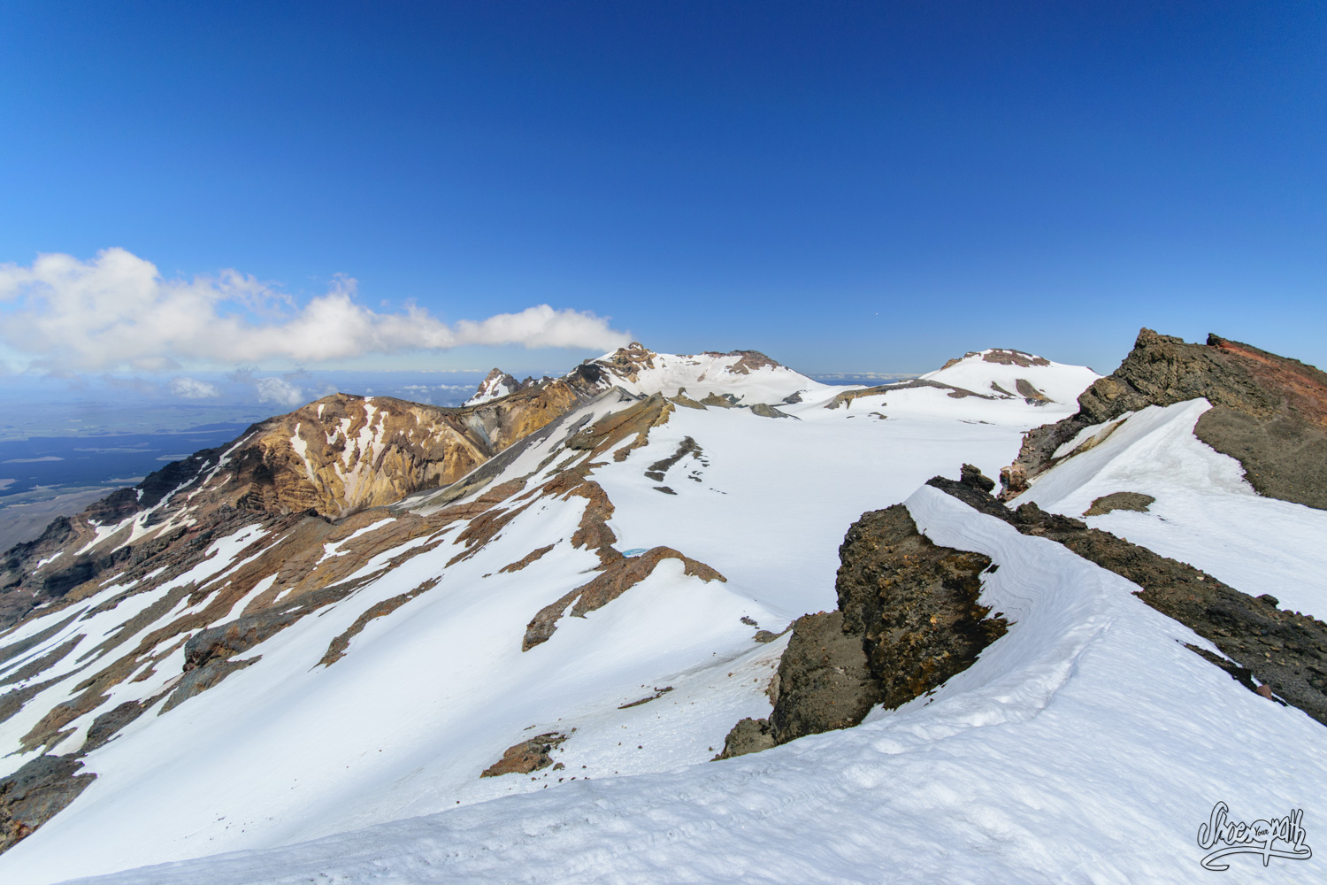Climbing On Mt Ruapehu Summit