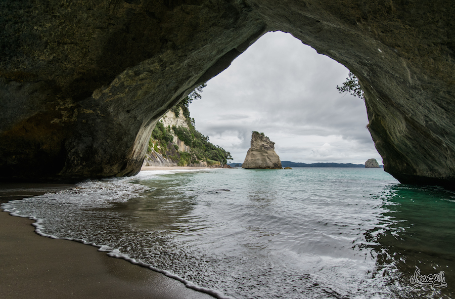 A l'interieur de Cathedral Cove