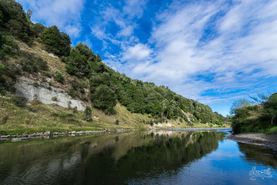 Au camping le long de la Whanganui River