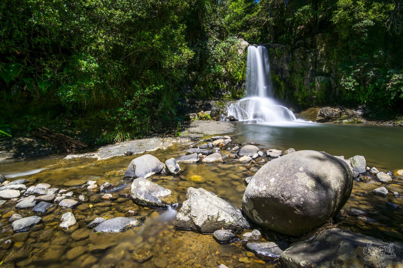 Waiau waterfalls, sur la route 309 au coeur du Coromandel