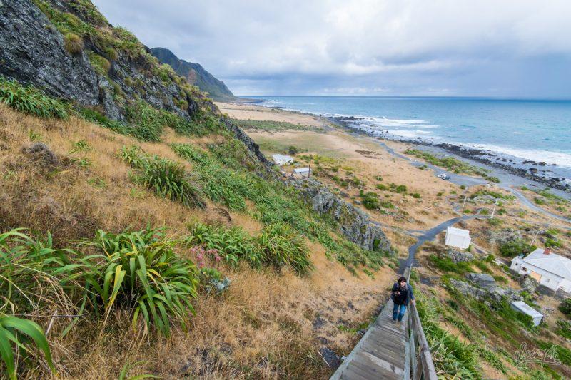Les Escaliers Pour Monter Au Phare De Cape Palliser