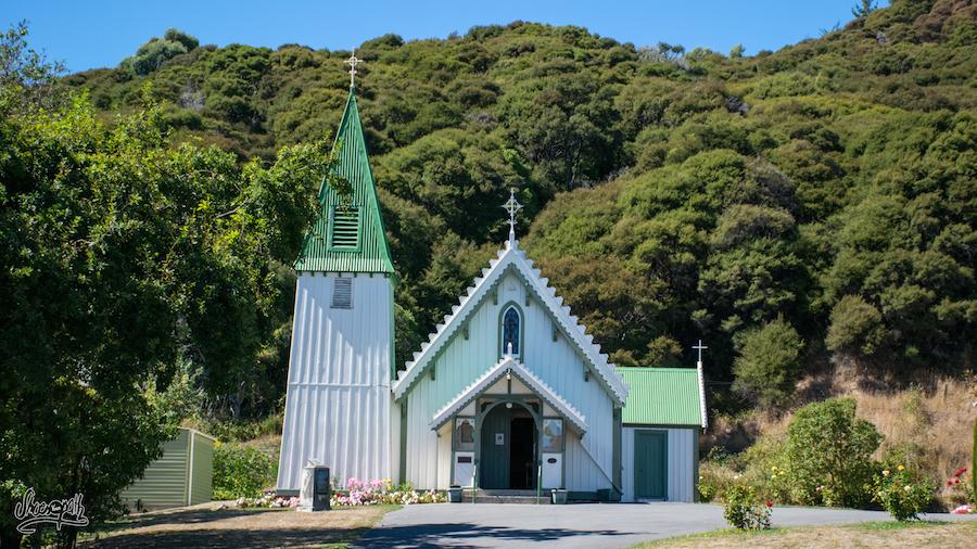 L'église d'Akaroa (Photo par Mariette)
