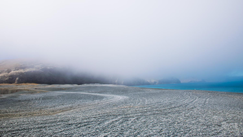 Brouillard sur la péninsule de Banks