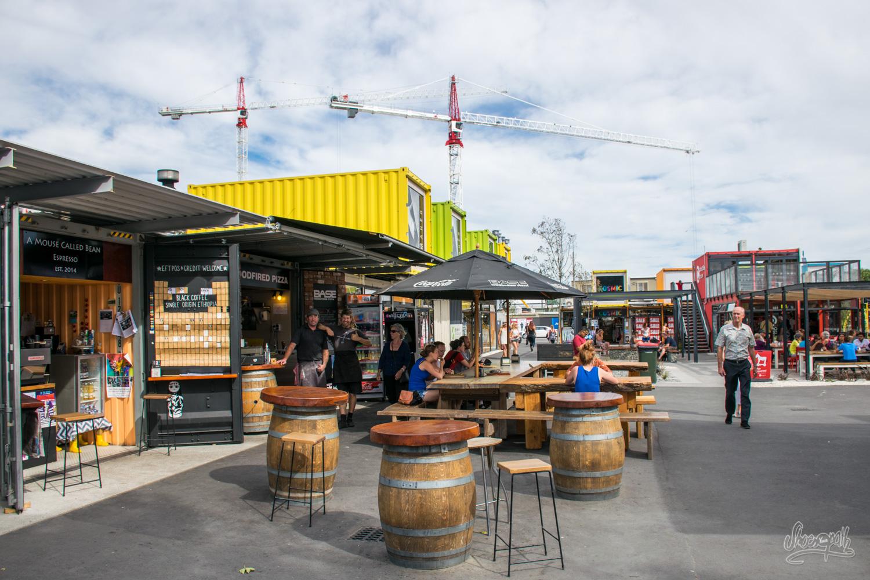 Le Re:Start Mall de Christchurch, symbole du renouveau de la ville
