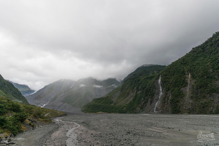 Au départ du chemin vers le Fox Glacier