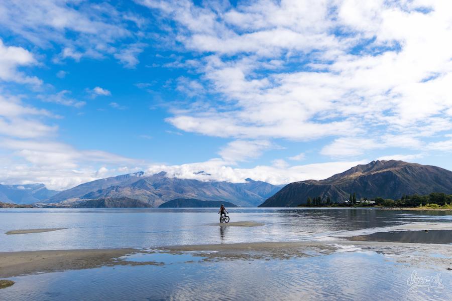 Balade en fatbike sur les bords du lac...