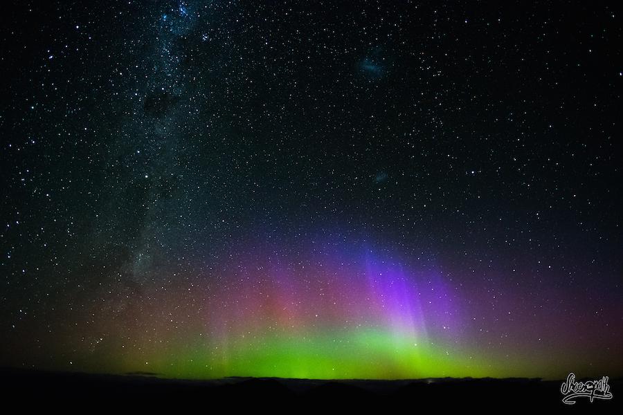 Aurore Australe Depuis Roys Peak