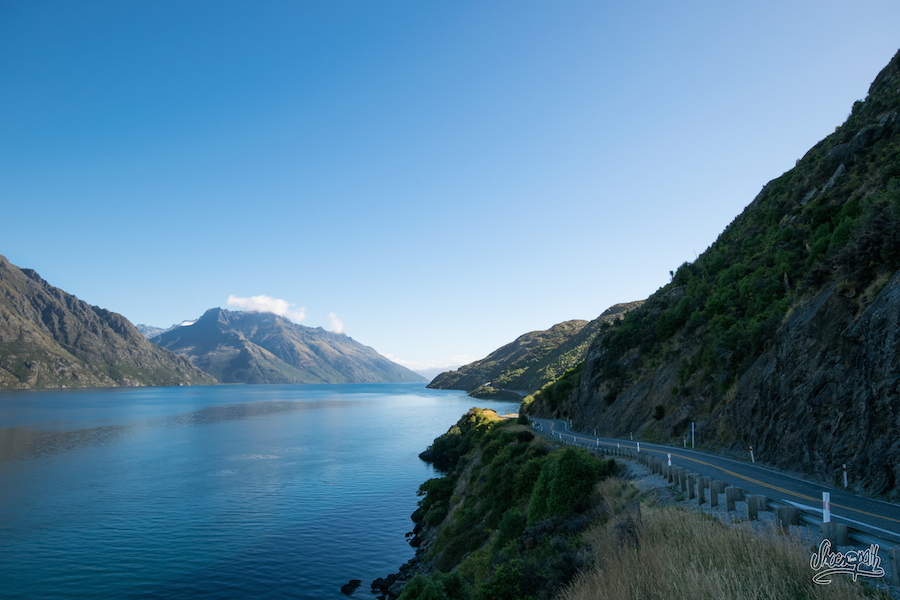 Lake Wakatipu, en quittant Queenstown (Photo par Mariette)