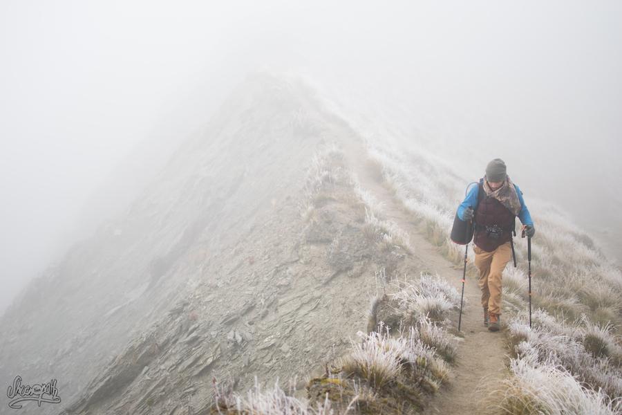 En Redescendant De Roys Peak, Sur Le Chemin De Crête