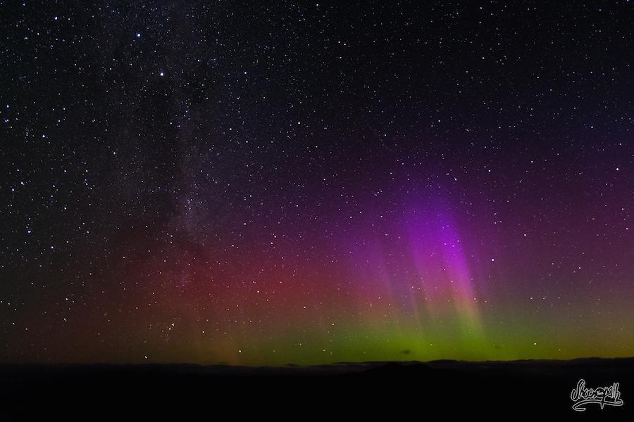 Aurore Australe Depuis Roys Peak (Photo Par Mariette)