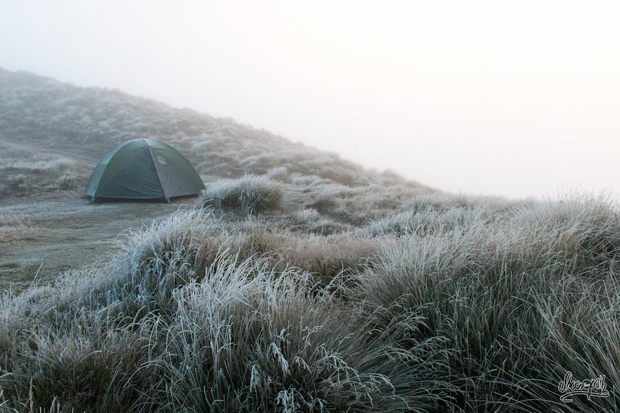 Réveil au milieu des nuages, dans un monde glacé (Photo par Mariette)