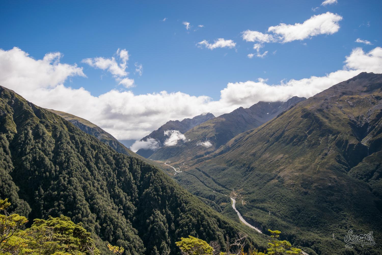 Arthur's Pass, vu d'en haut