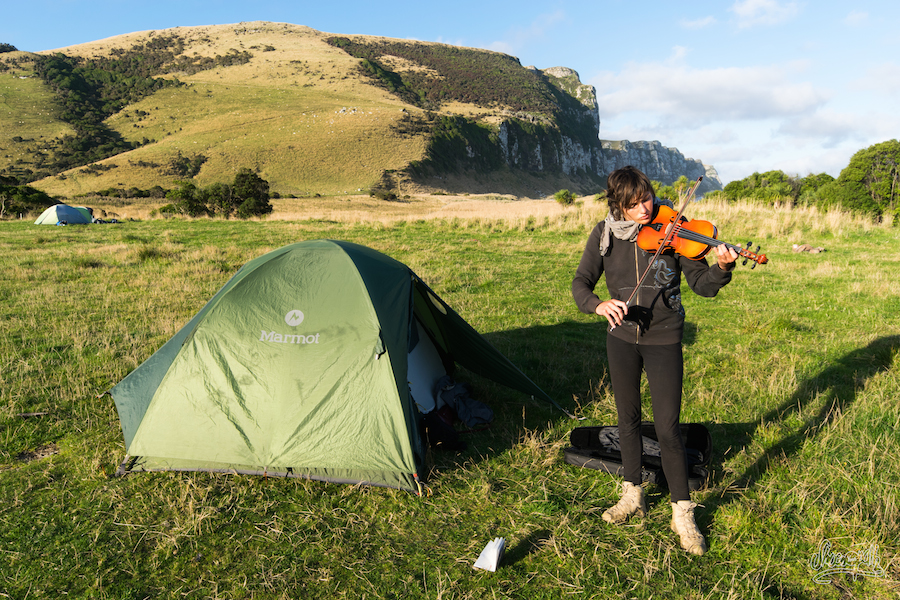 Camping à Purakaunui beach, havre de paix en pleine nature !