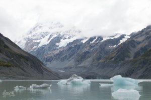 Les icebergs du Mont Cook