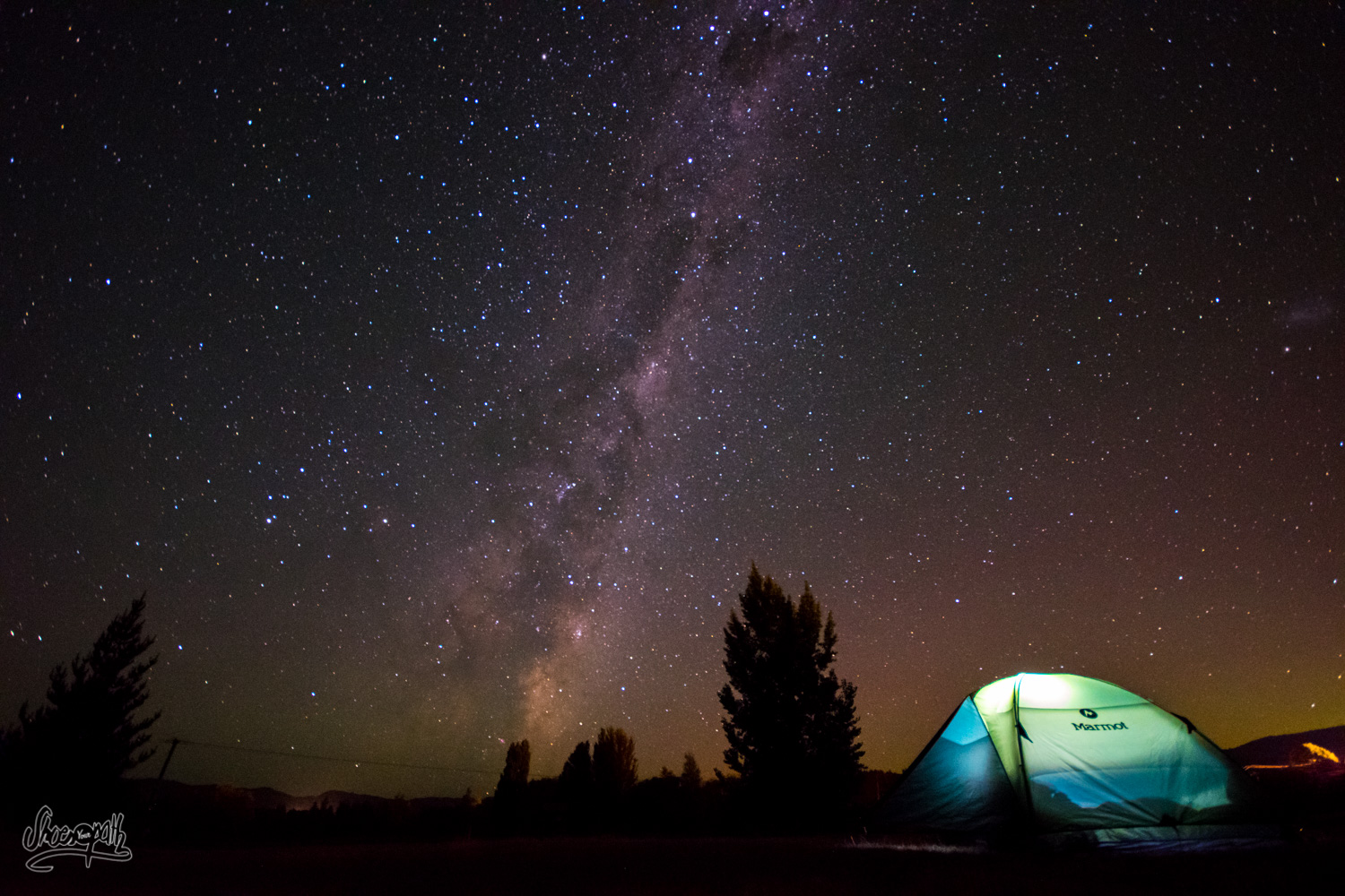 Camping under the stars in Albert Town, not far from Wanaka