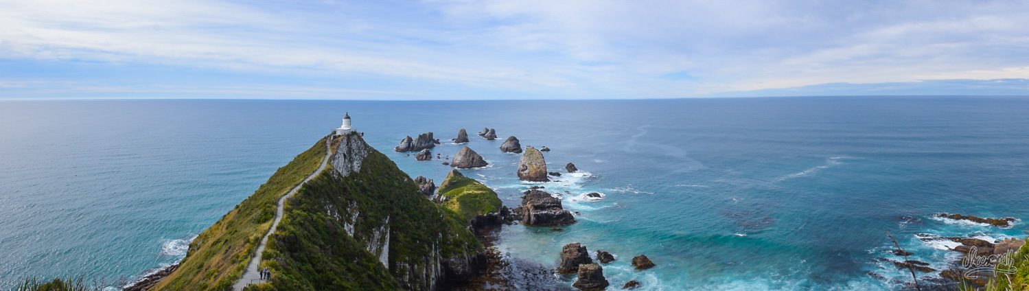 Nugget Point lighthouse, symbol of the Catlins...