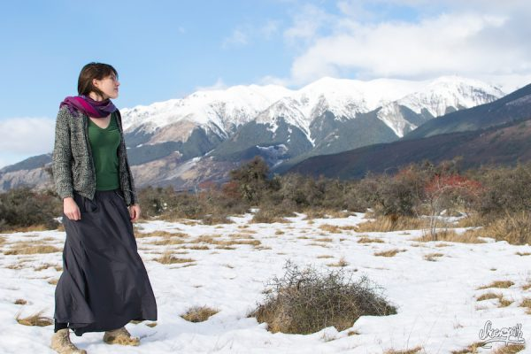 12- First Day Out With The Skirt, In Arthurs Pass In New Zealand