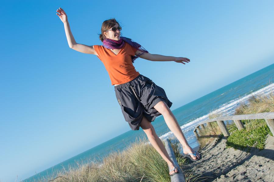 """4- La jupe de voyage en mode """"short"""" pour faire des acrobaties"""