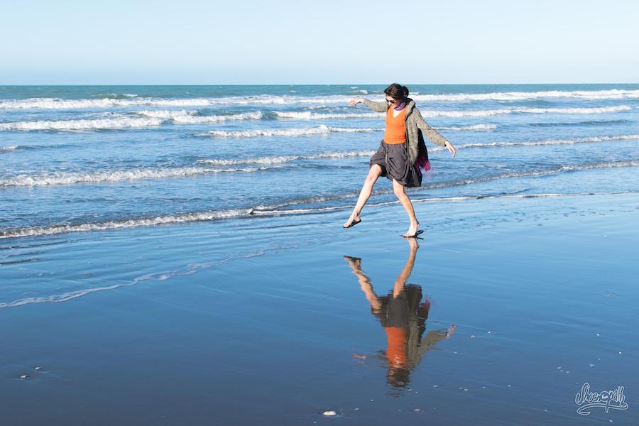 1- La jupe Macabi à la plage