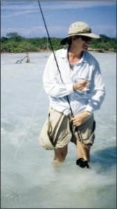Carol, la créatrice de la robe, en pleine session de pêche !