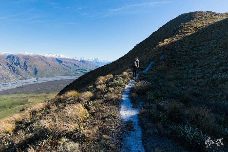 En Prenant De La Hauteur Sur Peak Hill La Piste Commence à Geler. Une Véritable Patinoire