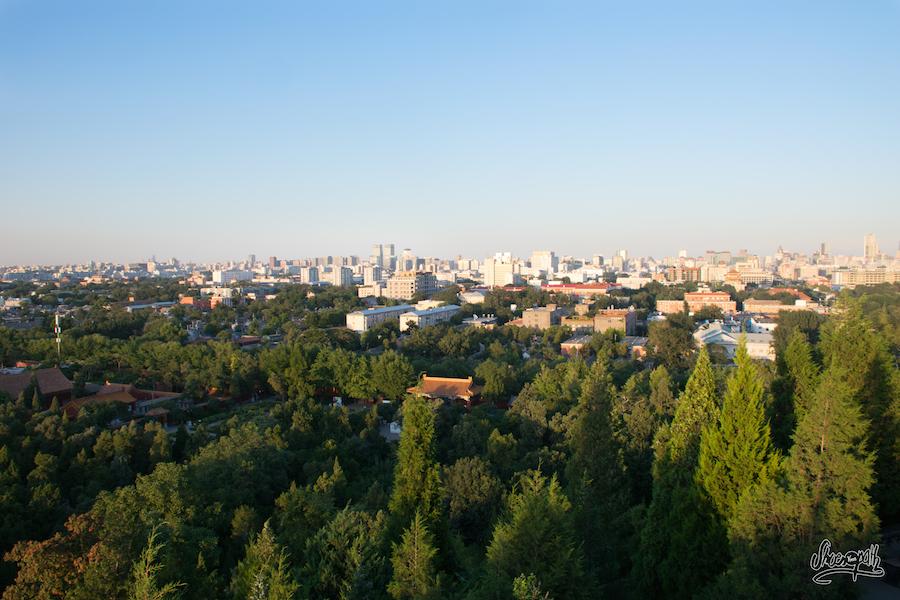 Pékin, vue d'ensemble depuis la colline au charbon (Photo par Mariette)