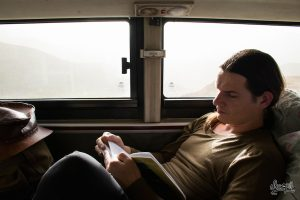 Dans le bus couchette (Photo par Mariette)