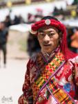 Danseur Traditionnel Tibétain, Peu Avant Sa Performance
