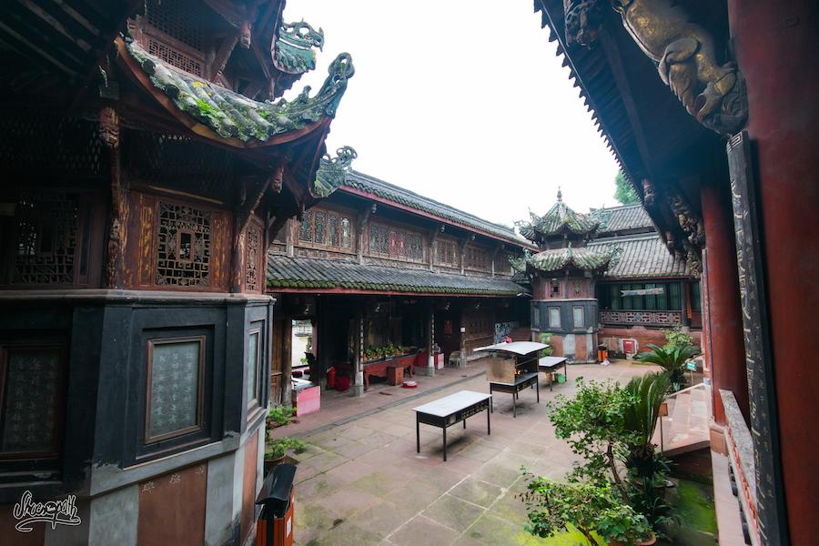 Wuyou temple, perché sur la colline