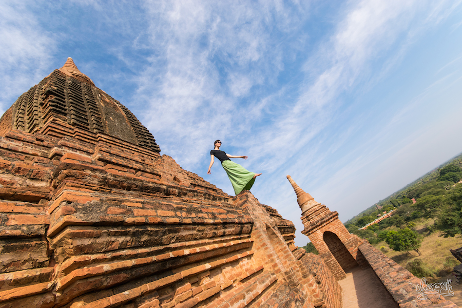 80 - Playing on top of old pagodas in Bagan, Myanmar